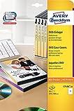 Avery Zweckform L7436-25 DVD-Einleger für Filmbox (A4, 25 Stück, 183 x 272 mm) 25 Blatt weiß