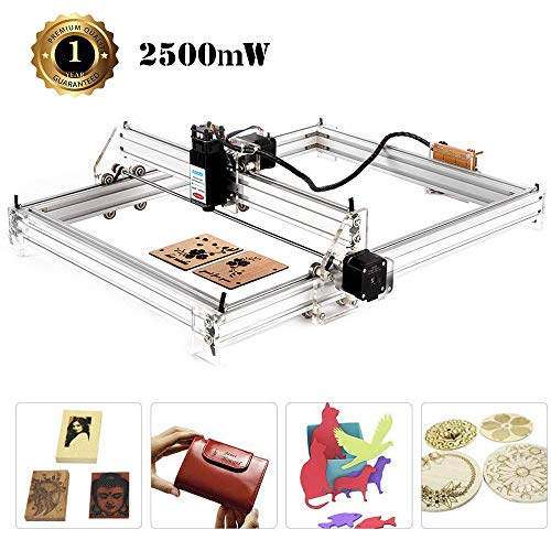 TOPQSC Carving Machine DIY Kit, Desktop 12V USB Lasergravierer Carver, Gravurfläche 400X500 mm, einstellbare Laserdrucker Carving & Schneiden mit Schutzbrille (2500MW) - Maschine Carving Stein