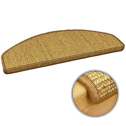 Sisal Sand (Stufenmatte Sisal Stufenmatten Stufenteppich Treppenmatte sand 28x65cm)