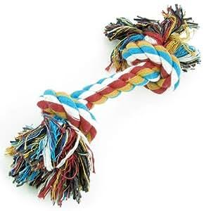 Puppy Dog Pet Multi Color tressé os corde Chew noeud Toy 20cm