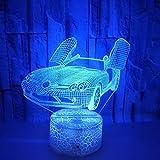 Creative voiture coloré 3d led lumière de nuit voiture de sport lumières colorées touchent lampe de table cadeau lampe de table 3D