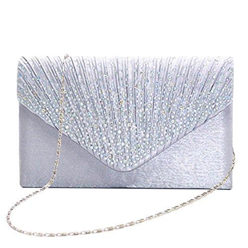 Bolso de mano bolso bolso Clutch Mujer Bag bolso bolsillos pequeño bolso de hombro para mujer con...