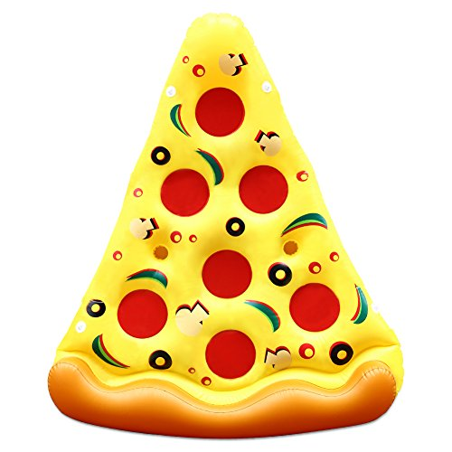 Thinkmax 6x 3Füße PVC Riesige aufblasbare Pizza, Außenpool Float, aufblasbar Sommer Party Floatie Lounge Spielzeug für Kinder und Erwachsene 3-fuß-aufblasbares Pool