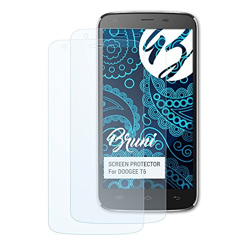 Bruni Schutzfolie kompatibel mit DOOGEE T6 Folie, glasklare Bildschirmschutzfolie (2X)