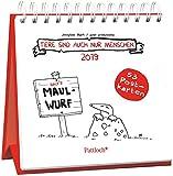 Tiere sind auch nur Menschen 2019 - Postkartenkalender 2019: Wochenkalender zum Aufstellen, Spiralbindung, m. 53 Postkarten zum Heraustrennen, Verschicken & Verschenken, 14,8 x 14,6 cm