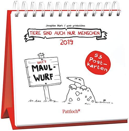 Tiere sind auch nur Menschen 2019 - Postkartenkalender 2019: Wochenkalender zum Aufstellen, Spiralbindung, m. 53 Postkarten zum Heraustrennen, Verschicken & Verschenken, 14,8 x 14,6 cm (Tiere Sind Menschen Auch Nur)