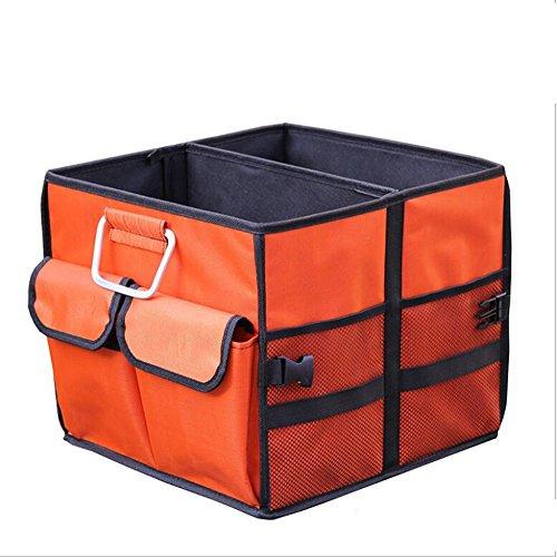 Auto-Stiefel-Organisator, Auto-Stiefel zusammenklappbar Aufbewahrungsbox mit Riemen für Auto, SUV, Minivan, LKW und Indoor UsesBoot Organizer (Farbe : Small Orange)