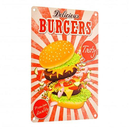 Das Fast Food Delicious Burgers Metallschild in 15×20 cm - 2