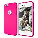 iPhone 6 6S Hülle Handyhülle von NALIA, Ultra-Slim TPU Silikon Neon Case, Dünnes Cover Gummi Schutzhülle Skin, Etui Handy-Tasche Backcover Bumper für Apple i-Phone 6S 6 Smartphone, Farbe:Pink