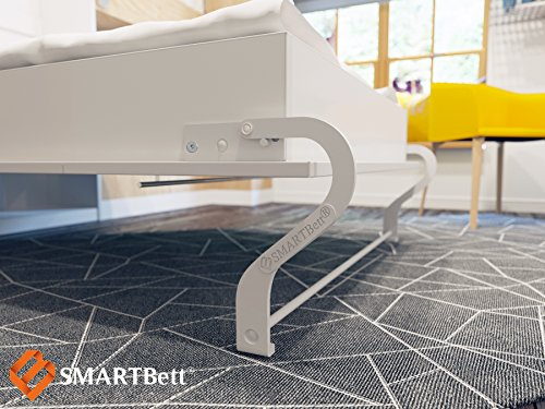 Schrankbett 140×200 cm Horizontal Wenge Schrankklappbett & Wandbett, ideal als Gästebett – Wandbett, Schrank mit integriertem Klappbett, SMARTBett - 4