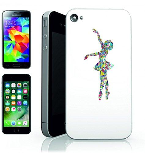 Smartphone Case Anno Gang di Balletto della ballerina di danza danza della femmina della Donna della Ragazza della silhouette della salute di Esercizio di fitness per Apple Iphone 4/4S, 5/5S, 5C, 6