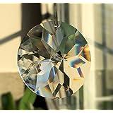 Sol–Potencia de brillante.–Exclusivo–d.40mm en Fine bolsa de regalo cristal disco Esoteric–Feng Shui–Ventana Decoración–Arco iris cristal–colgante de cairel de cristal de múltiples facetas