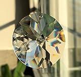 Cristal d.40mm de soleil dans pochette cadeau Fine Haute brillant.–Exclusif–Vitre cristal–Cristal Arc-en-ciel–Feng Shui–ésotérisme–Fenêtre–Bijoux Facette France–Aspect Cristal Attrape-soleil –