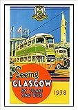 Reiseplakat 273 Glasgow By Tram And Bus (in englischer