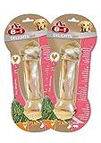 8in1 Delights Pork Kauknochen, Größe L, gesunder Kausnack für größere Hunde über 20 kg 2er Pack (2 x 85 g)