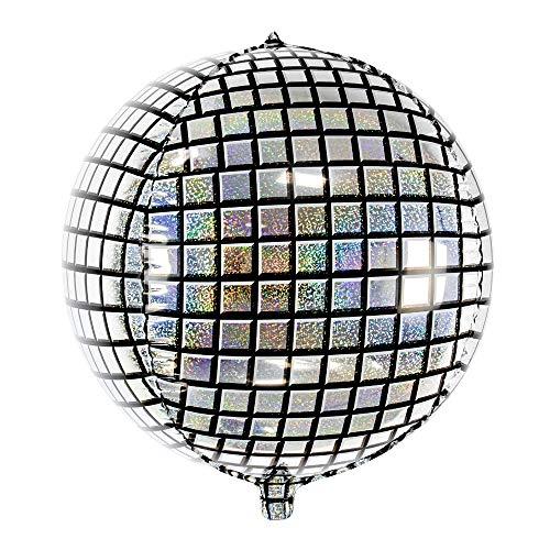 her Folienballon Disco-Kugel, Größe: 40cm, Helium Ballon Discokugel ()
