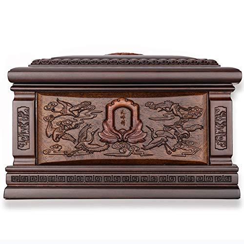 TYJH High-End Exquisite Schatulle, Ebenholz Urne, Mandschurenkranich Muster. Aussehen Größe (33 * 21 * 21CM)