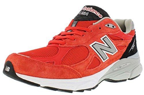 Balance M990 Version 3 Men's Running Shoe, Size: 8 Width: 2E Color: Red/White/Black