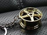 Cerchione Oro cromato # 77Keychain–Ciondolo massiccio–von VMG della Store OEM VAG Dub