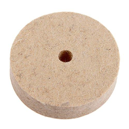 17,6cm Zoll rund Polieren Rad Filz Wolle Polieren Polishers Pad Puffer für Holz Metall Polieren Langlebig