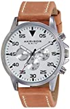 Akribos XXIV Herren-Armbanduhr Men'S Schweizer Quarz Leather Strap Watch Analog Quarz AK773SSBR