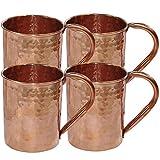 Dakshcraft ® Trinkgefäße Zubehör Hammered Copper Moscow Mule-Becher, Set aus 4 Tassen