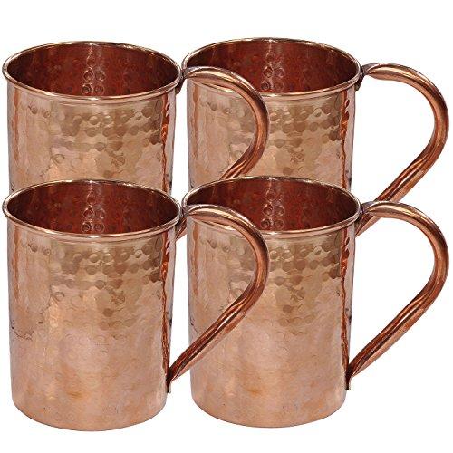 Bicchieri Accessori martellato rame Moscow Mule Tazza, insieme di 4 tazze