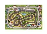 House Of Kids 86135-e3Ultra Soft Circuito Alfombra de Juego de poliéster, 180x 0,5x 130cm