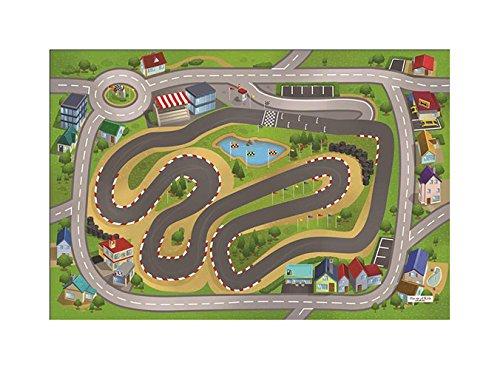 House of Kids 88232-e3Ultra Soft Circuit Spielmatte Polyester Mehrfarbig 95x 0,5x 70cm