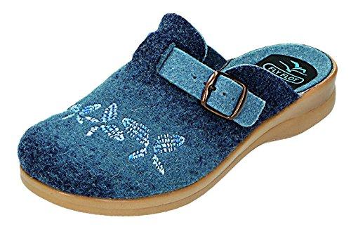 Fly Flot, Pantofole donna blu Blau Blau