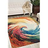 NOURISON 99446337979 - WAVE Machine Woven Rug, Wave, 3 ft 11-Inch x 5 ft 11-Inch