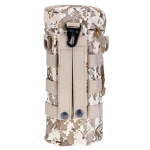 ?HuntGold Outdoor Wandern Reisen Taktisch Militärisch Reißverschluss Wasserflasche Tragen Beutel Tasche Digital Desert Camouflage