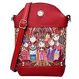 OHQ Female Models Casual Forest Girl Totem Shoulder Bag Mini Vert Rouge Violet Femmes...