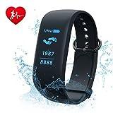 Fitness Tracker,CAMTOA 0.96''OLED Touchscreen Cardiofrequenzimetro da Polso,IP7...