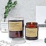 HANHAIBO Aromatherapie Kerze Soja Wachs Indoor Duft Schlafen Grafschaft-Park Lavendel ätherisches Öl duftende Kerze Kerze Tasse. Frische Hanf 210 G