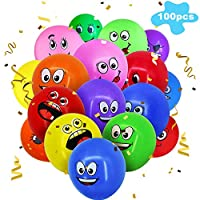 Emoji Balloons Latex Balloons BETOY 100 Pcs Party Balloons Color 12 Inches for Birthday Wedding Gift Party Decoration (Random Color)