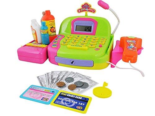 Registrierkasse Kaufladen Kinder mit Kasse Scanner Spiel Spielzeug #4685
