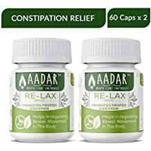 Re-LAX for Constipation, Gas, Indigestion and Metabolism - 60 Capsules (Pack of 2)