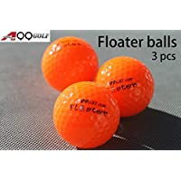 3 pezzi A99palline da golf galleggianti con logo, colore: Arancione - Golf Ball Dimensioni