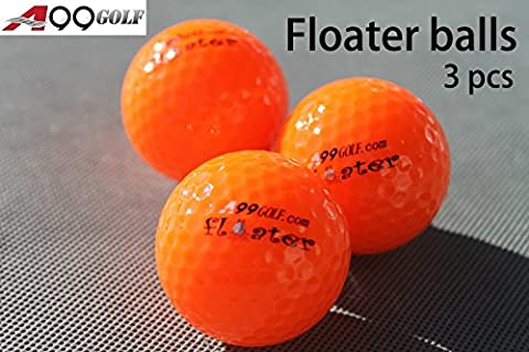 3pcs A99 Golf floater floating balls with logo orange water range - Golf Ball Dimensioni