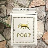 CS Weiße rote Briefkasten-Landhaus-im Freienwand-hängenden wasserdichten Zeitschriften-Zeitungs-Kasten-Gemeinschaftsmeinungs-Briefkasten ( Color : White )