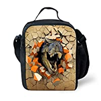 Nopersonality Galaxy Dinosaur Print Boys Lunch Bag Insulated Kids Children Lunch Box