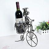 CHYOOO Portabottiglie per Vino Creativo Casa Bicicletta Stile Vino Cremagliera in Metallo Artigianato Decorazione della Casa Regali Decorativi Fatti A Mano