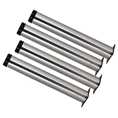 BQLZR 350mm Height Adjustable Stainless Steel Cabinet Office Sofa Coffee Table TV Bed Legs Feets Pack of 4 - inexpensive UK light shop.