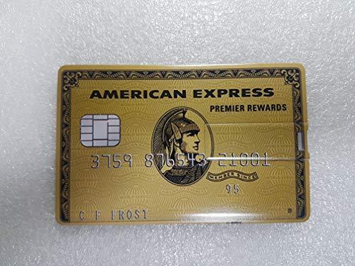 Pen drive credit card chiavetta usb carta di credito 8gb 16gb 32gb 64gb penna memory usb2.0 (amex oro, 32gb)