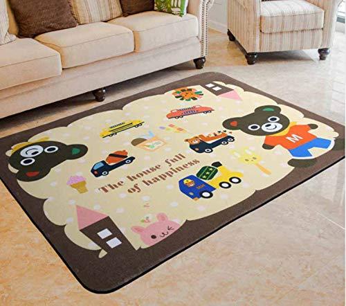 Mianbao Baby Teppich Spielmatte Cartoon Muster Kindermatte Verdicktes Babyzimmer Krabbeln Pad Faltmatte Baby Baby Verbot Ungiftig 120 x 160 cm