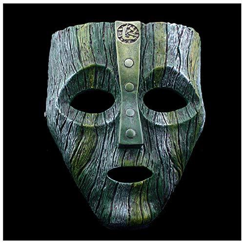YaPin Halloween Film Cosplay Rocky (Gott der schelmischen) Maske Verkleidet Geek Mask Resin (Color : Light Green)