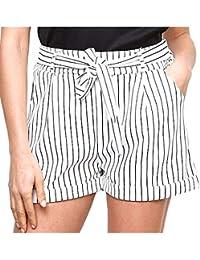 Amazon.fr   rayure ou rayé - Shorts et bermudas   Femme   Vêtements b922abf5c9c