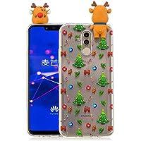 Everainy Huawei Mate 20 Lite Silikon Hülle 3D Weihnachts dünn Durchsichtig Hüllen Handyhülle Gummi Huawei Mate... preisvergleich bei billige-tabletten.eu