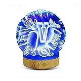 Wangyd 3D LED Lamp Optical Illusion Night Light Humidifier, USB Powered an Ideal